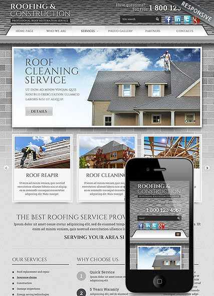 szablon strony internetowej www Roofing and Construction